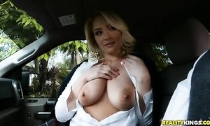 Sexy blonde coed seduced professor into fucking her tight little hole