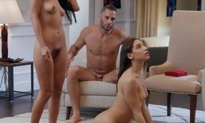 Nice threesome - two bitches and one male moaning to orgasm after sex