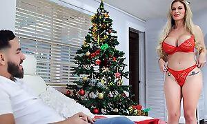 Buxom Russian MILF gets a big throbbing cock for Christmas