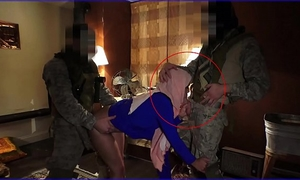 Tour of ass - local working arab amateur wife entertains soldiers for some elementary cash