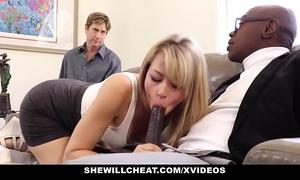 Shewillcheat - hawt blond girlfriend copulates bbc for cuckold boyfriend