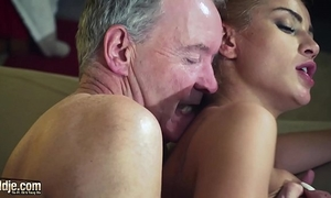 Old fellow dominated by hawt hawt sweetheart in old youthful femdom hardcore fucking