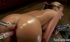 Big wazoo blond anal and bawdy cleft fucking sex toy