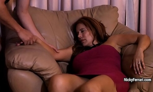 Juicy aged redhead is having a surprise whilst this babe sleeping