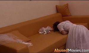 Abusive pair vigour fucking a juvenile bride