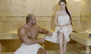 Relaxxxed - hard fuck at the sauna with handsome russian chick angel rush
