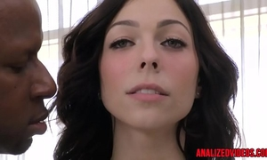 Busty anal sweetheart fucked right into an asshole by dark schlong