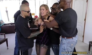 Cherie deville receives group-fucked by large dark ramrods