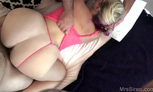 Curvy white wife shared with a ally