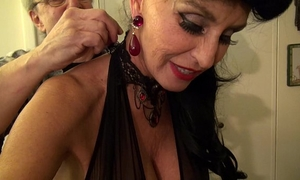 Granny goes black-dirty white wench gilf takes 3-way bbc fuck of her life