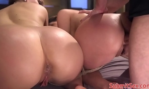 Bdsm subs booty drilled from behind by maledom