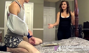 Mommy helps her stepson with a cook jerking