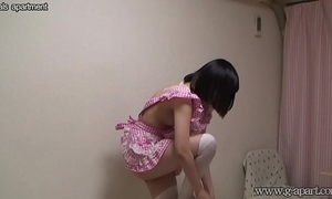 Naked japanese slutwife wears maid's clothing
