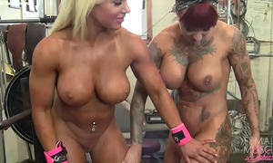 Female bodybuilder lesbian babes tattoos and milk cans